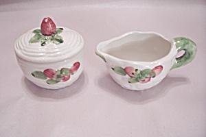 Handpainted Porcelain Sugar & Creamer Set (Image1)