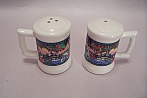 Louisiana Souvenir Porcelain Salt & Pepper Shaker Set