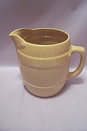 Frankoma Barrel Shaped Yellow Pitcher