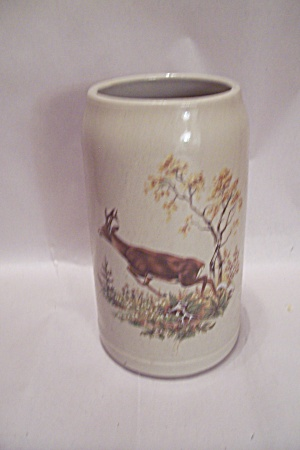 Schall One Liter Beer Mug With Deer Decoration