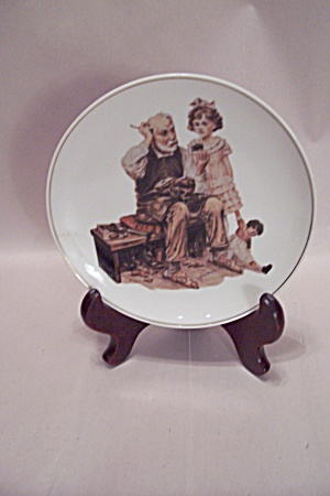 Norman Rockwell The Cobbler Collector Plate
