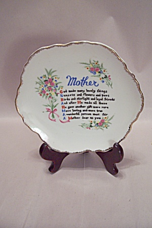 Mother's Poem Collector Plate
