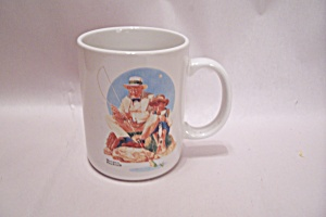 Norman Rockwell - Catching The Big One - Mug