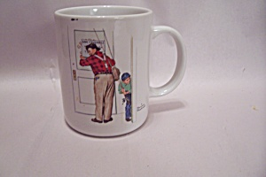 "Norman Rockwell - Closed For Business"" Art Mug"