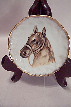 Occupied Japan Handpainted Horse Collector Plate