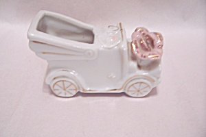 Occupied Japan Porcelain Old Car Toothpick Holder (Image1)