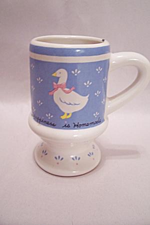 Duck Motif Porcelain Pedestal Cup Toothpick Holder (Image1)