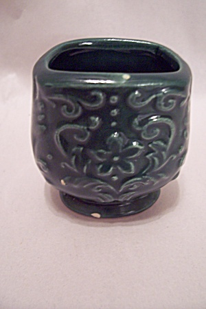 Occupied Japan Green Porcelain Toothpick Holder (Image1)