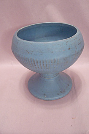 McCoy Pottery Turquoise Pedestal Bowl (Image1)