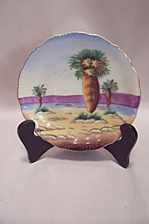 Occupied Japan Handpainted Desert Palm Saucer