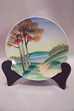 Occupied Japan Handpainted Landscape Collector Plate