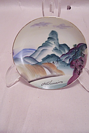 Occupied Japan Handpainted Miniature Landscape Plate