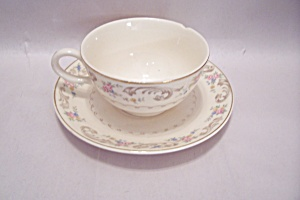 Paden City Duchess Pattern Cup & Saucer Set