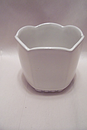 Frankoma White Pottery 6-sided Bowl