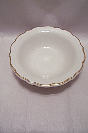 Syracuse Ivory & Gold Trimmed Cereal/berry Bowl
