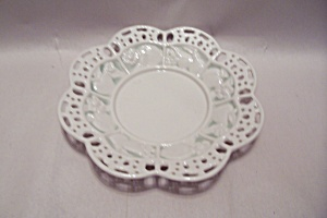 Avon White China Lattice Rimmed Candy Dish (Image1)