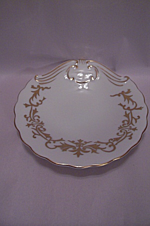 Porcelaine (crossed arrows) Gold Trimmed Candy Dish (Image1)