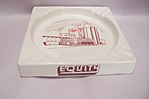 Equity Feeds Advertising Porcelain Ash Tray (Image1)