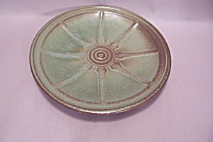 Frankoma Prairie Green Wagon Wheel Bread & Butter Plate