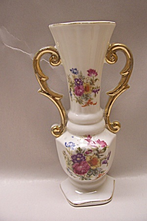 Occupied Japan Rose Motif Porcelain Wall Pocket