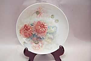 Hand Painted Flowers Collector Plate (Image1)