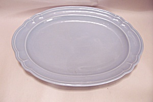Pfaltzgraff Gazebo-blue Oval Serving Platter