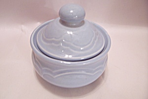 Pfaltzgraff Gazebo-Blue Sugar Bowl With Lid (Image1)