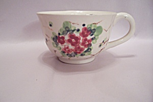 Occupied Japan Handpainted Floral Motif Large Cup