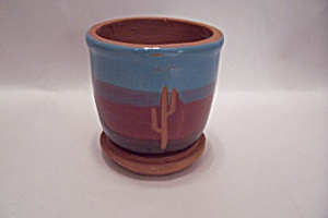 Native American Southwestern Style Pottery Planter
