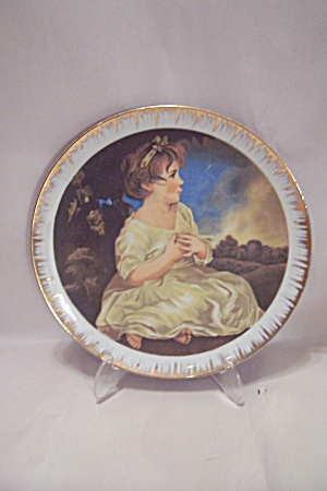 Handpainted Little Girl Portrait Collector Plate