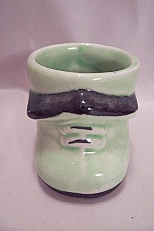 Royal Art Pottery Green Shoe Toothpick Holder (Image1)