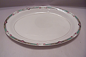 Homer Laughlin Red Rose Pattern Fine China Platter