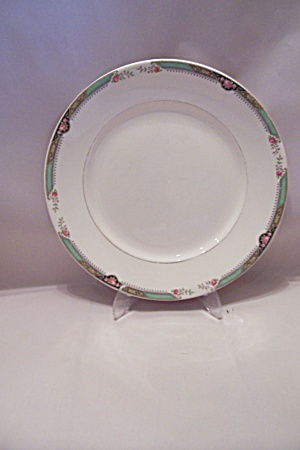 Homer Laughlin Red Rose Pattern Fine China Dinner Plate
