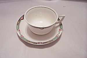 Homer Laughlin Red Rose Pattern China Cup & Saucer Set