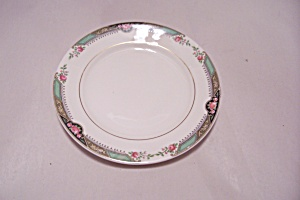 Homer Laughlin Red Rose Pattern Bread & Butter Plate