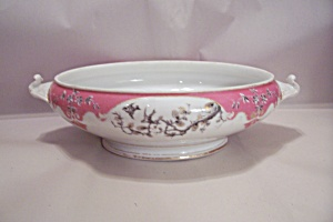 Dior Christian Fine China Large Serving Bowl W/handles