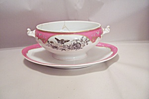 Dior Christian Fine China Soup Serving Bowl W/plate