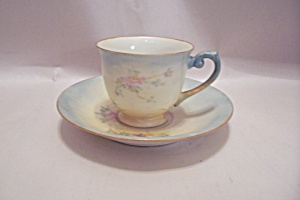 Occupied Japan Handpainted Demitasse Cup & Saucer
