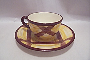 Vernon Kilns Handpainted China Demitasse Cup & Saucer