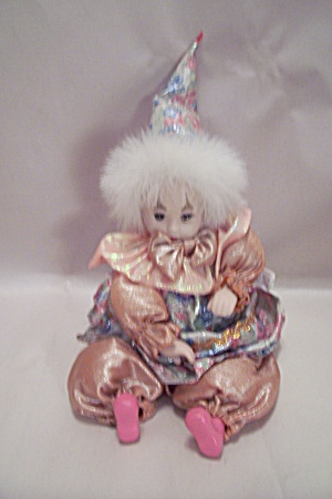China/porcelain Faced Clown Doll Music Box