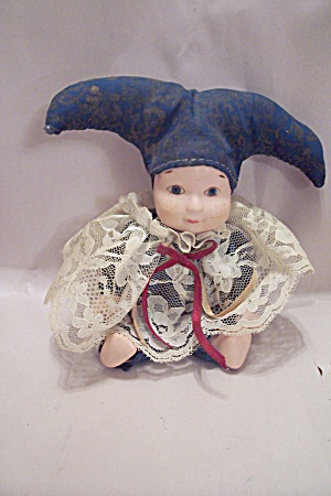 Porcelain Faced Little Clown Doll
