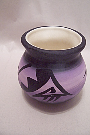 Native American Handmade Pueblo Small Pot
