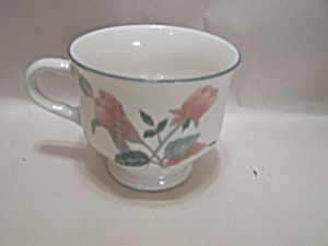 Mikasa Silk Flowers Pattern Fine China Footed Cup
