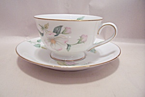Sango Apple Blossom Pattern China Cup & Saucer Set
