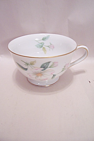 Sango Apple Blossom Pattern Fine China Footed Cup