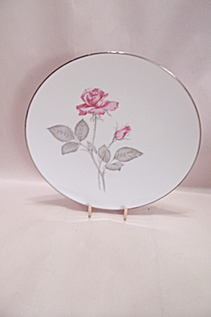 Zylstra Rose Pattern Fine China Dinner Plate
