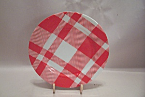 Fitz & Floyd Red And White Plaid China Dinner Plate