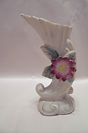 Occupied Japan Porcelain Horn Of Plenty Vase (Image1)