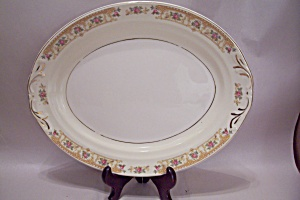 Crown Croyden Pattern Fine China Oval Platter