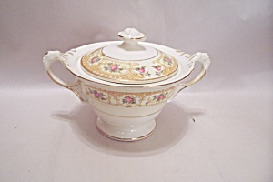 Crown Croyden Pattern Fine China Sugar Bowl With Lid